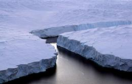 An enormous iceberg breaks off the Knox Coast in the Australian Antarctic Territory