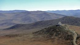 An ESO telescope in the Atacama desert in northern Chile