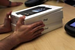 Apple said iPad users have so far downloaded more than one million applications at Apple's App Store