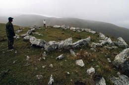 A site of excavations located in the mountains south of Kislovodsk, pictured in 2009