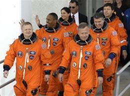 Astronauts board shuttle Discovery for last flight (AP)