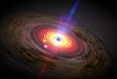 Black holes send memos in light