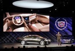 Cadillac XTS Platinum concept vehicle was introduced at at the annual North American Internation Auto Show
