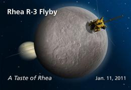Cassini to probe Rhea for clues to Saturn rings