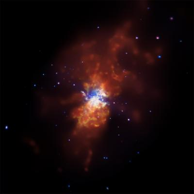 Chandra images torrent of star formation