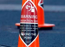 Cones warning of hazardous materials