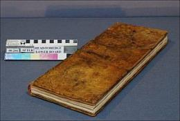 Conservators restore valuable maritime logbook