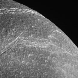 Divine dione captured by Cassini