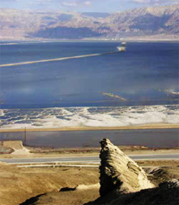 Drilling for insights under the salty dead sea