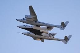 Flightglobal.com handout photo shows the first flight of the Virgin Galactic Spaceship 2 from in Mojave, California