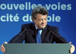 France's Minister for Ecology Jean-Louis Borloo at the launch of Transgreen in Paris