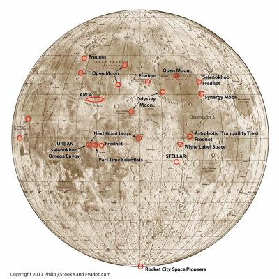 Future lunar landing sites mapped out