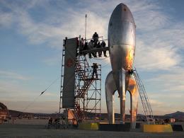 Futuristic Rocket Lands