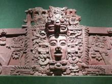 Giant sculptured Mayan head found