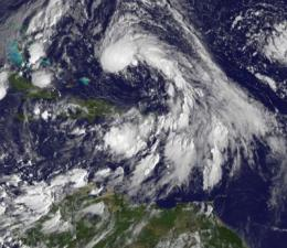 GOES-13 on top of new seventeenth Atlantic (sub) tropical depression