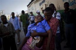 Haitians protest UN base over cholera claim (AP)