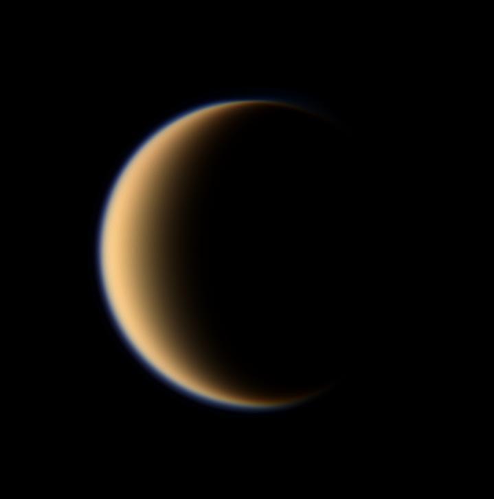 Cassini Spacecraft Design Titan 39 s Hazy Orange Globe Hangs Before The Cassini Spacecraft Image