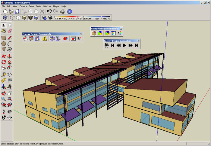 Software helps design energy stingy buildings w video for Building drawing software