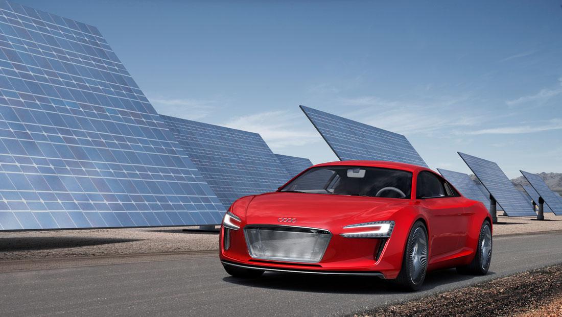 The Audi E Tron Concept Electric Car