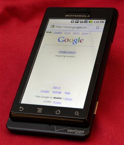 Verizon says Droid smart phone goes on sale Nov. 6