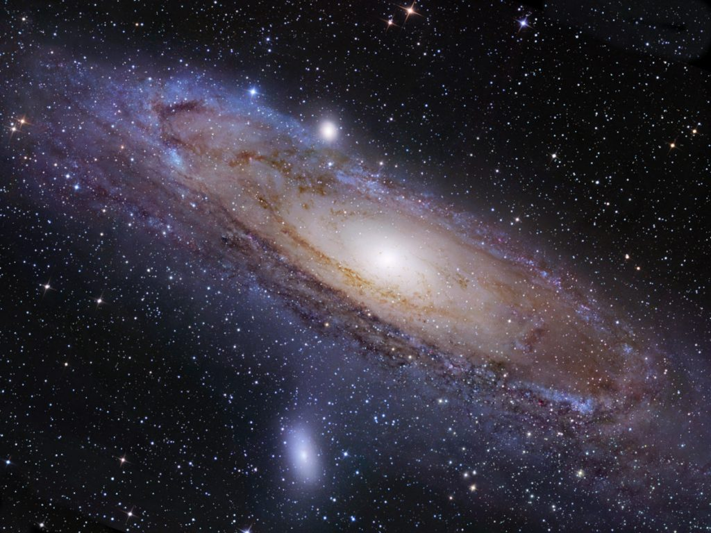 the milky way and andromeda galaxy distance from the viewed - photo #19