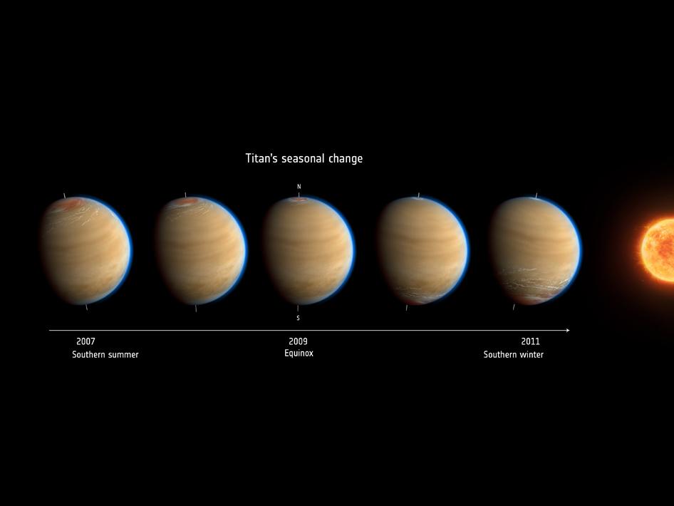 Titan Moon Surface Saturn 39 s Moon Titan Shows
