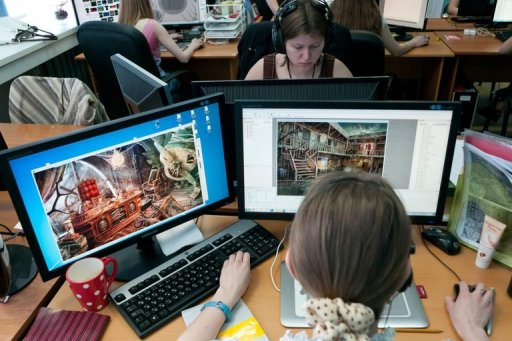 Russians design blockbuster video games in siberia woods for Office design game
