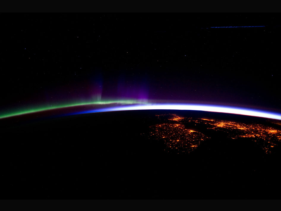 Space Image: Aurora Borealis seen from the Space Station