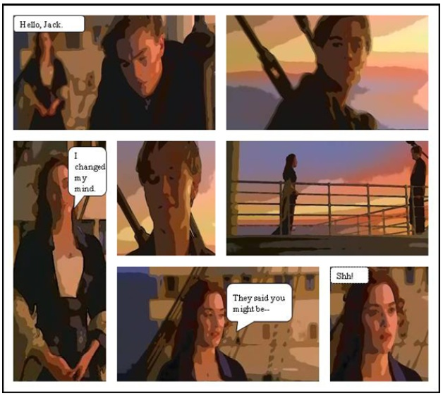 software automatically transforms movie clips into comic