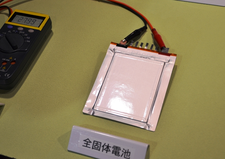 Solid State Toyota >> Toyota shows off all solid state lithium superionic conductor based prototype battery
