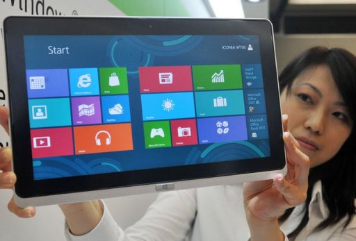 Taiwan 39 s acer asus unveil tablets with windows 8 update for Latest windows for pc