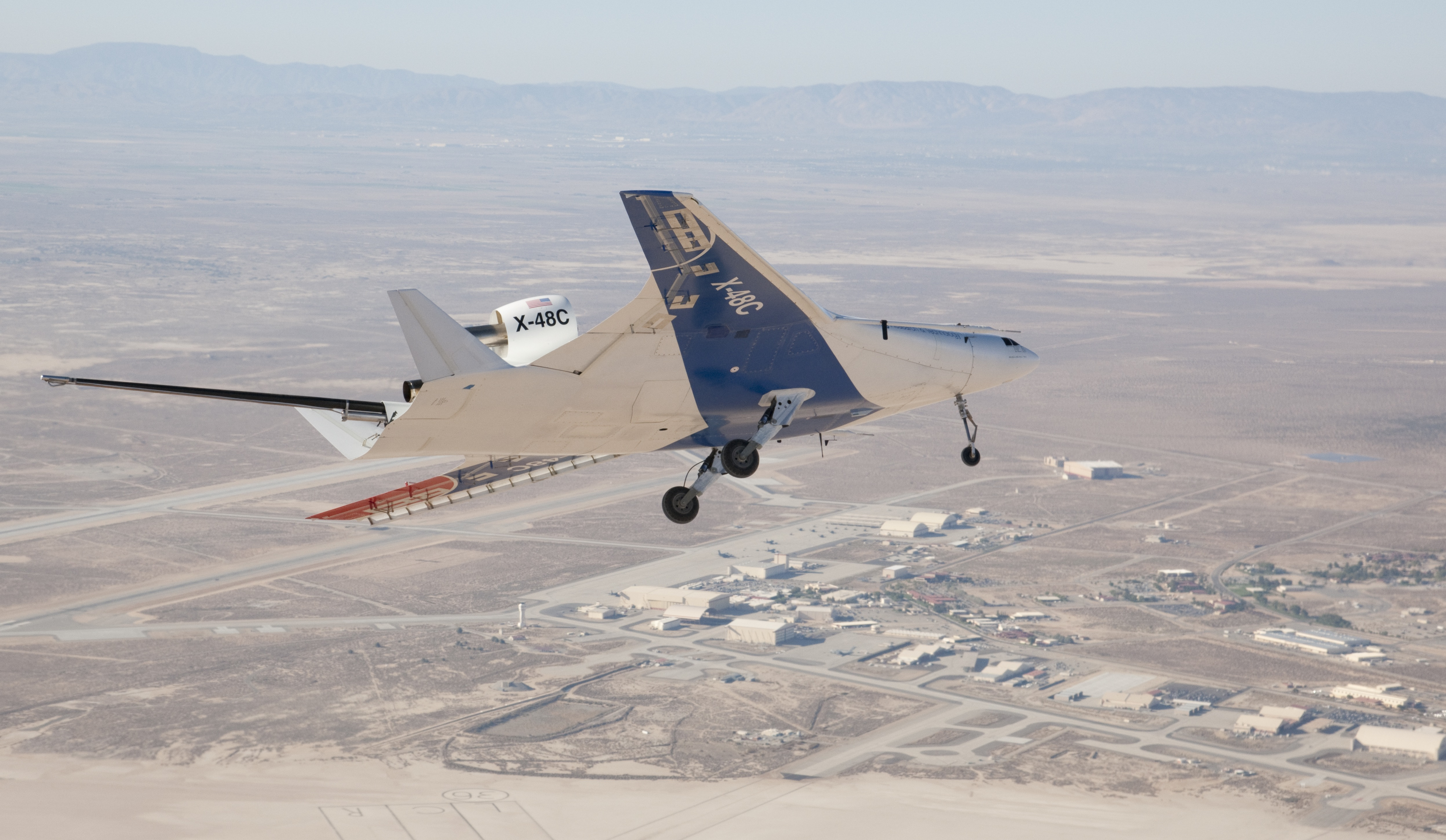 X 48 Blended Wing Body Research Aircraft Makes 100th Test