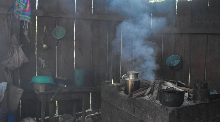 ventilation   key  reducing toxic chemical inhalation  biomass fire cooking