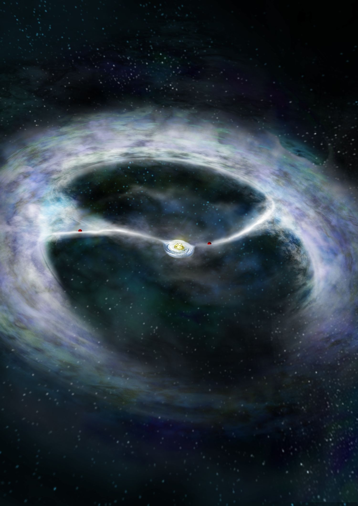 ALMA telescope shows how young star and planets grow ...
