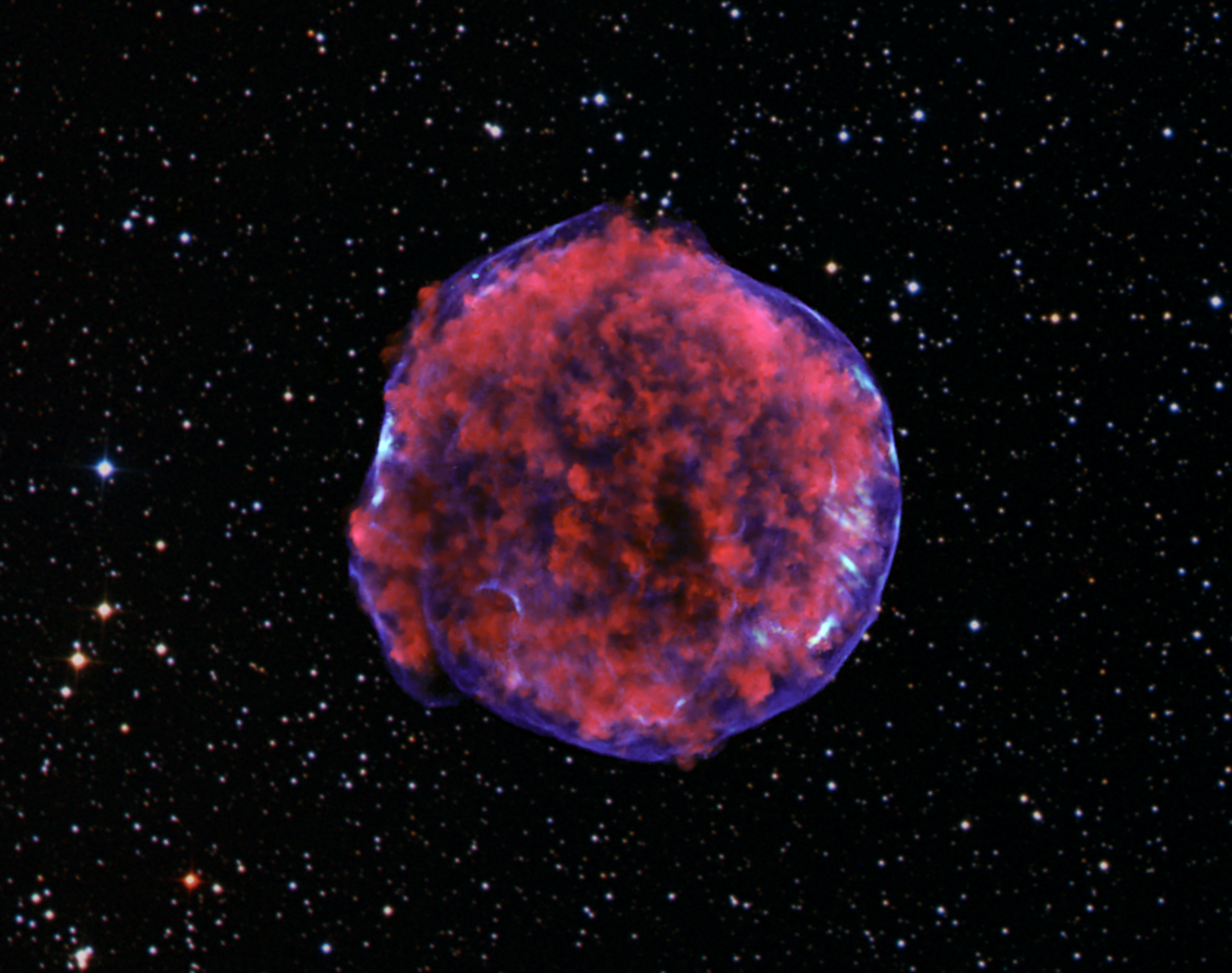 Mach 1000 shock wave lights supernova remnant