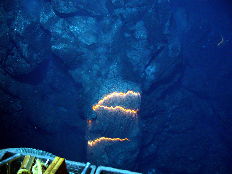 Oruanui New Zealand  city photos gallery : Bands of glowing magma, about 2,200 degrees Fahrenheit, are exposed as ...