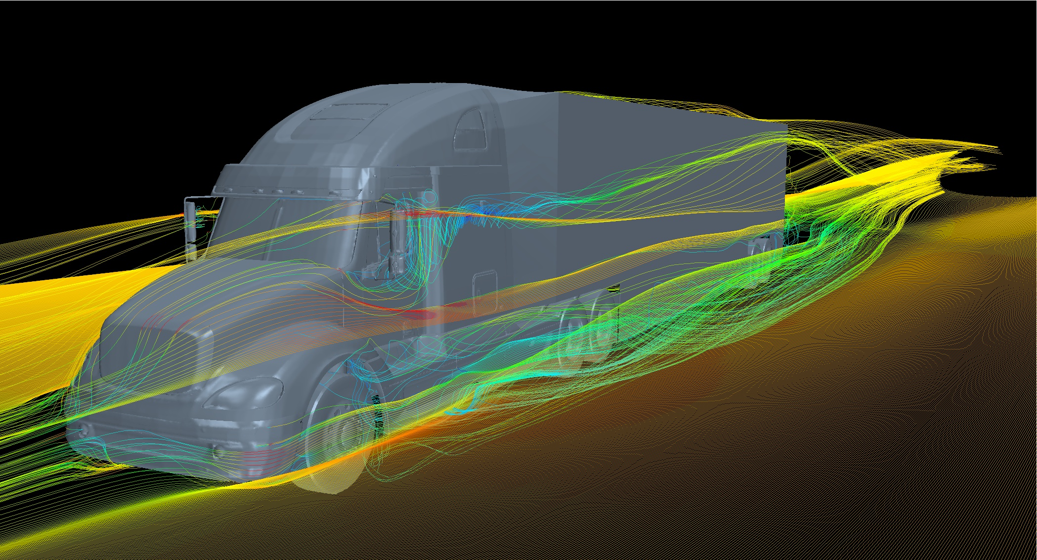 ... potential of drag-reducing devices on semi-trucks to conserve energy
