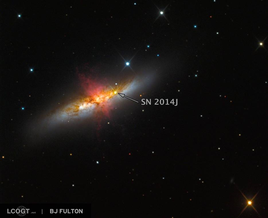 Astronomers observe closest milemarker supernova in ...