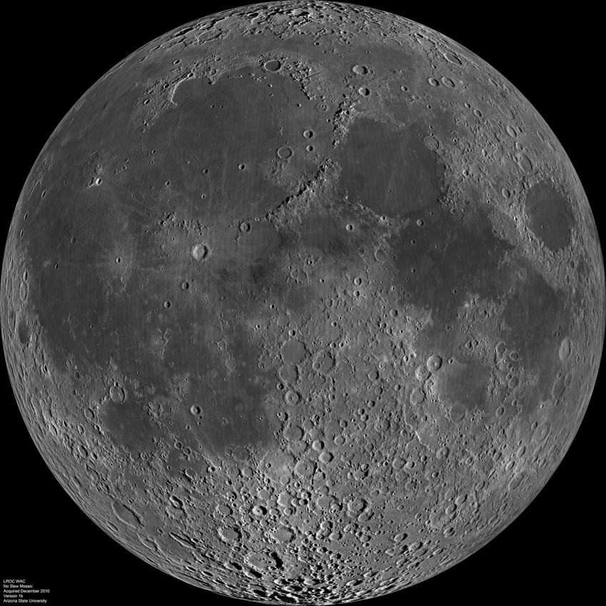... presence of dark areas of maria on this side of the moon. Credit: NASA