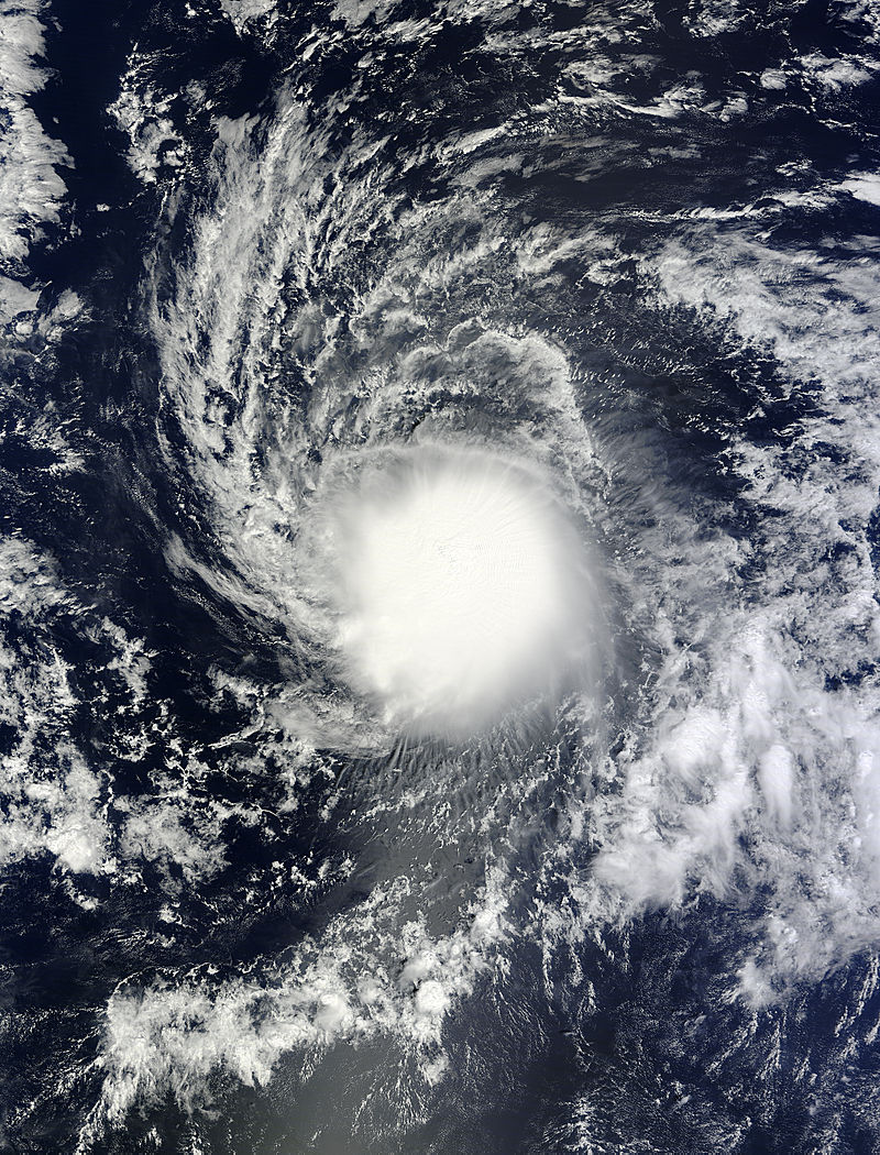 ... Tropical Storm Ana in the Central Pacific Ocean. Credit: NASA Goddard