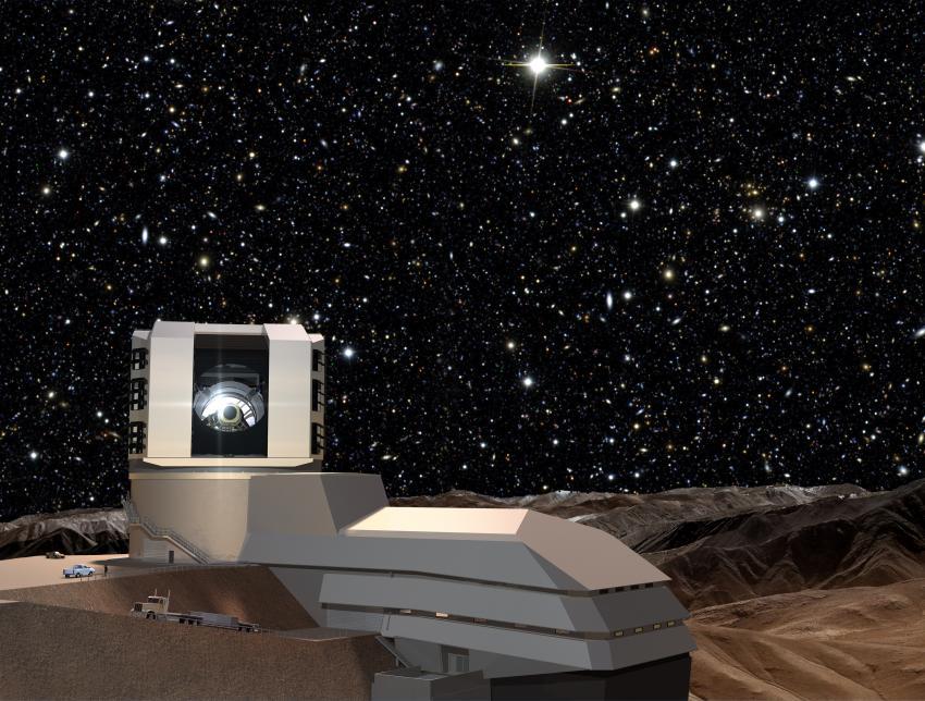Строительство уникального телескопа LSST позволит наблюдать Вселенную «в действии» (3 фото)