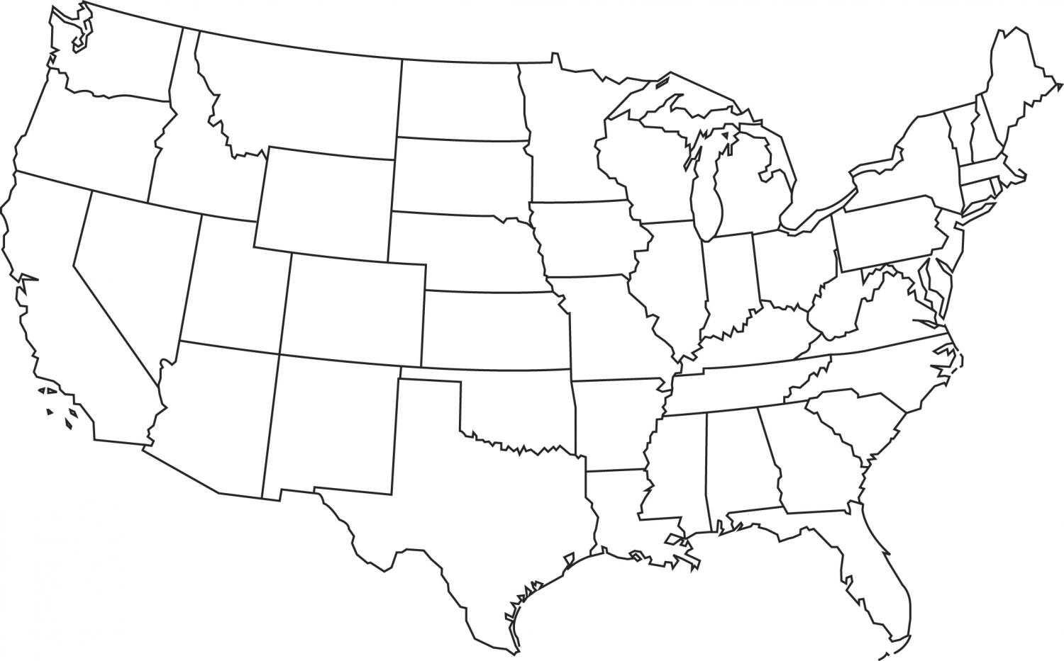 Blank Map Of The Northeast Region Of The Usa Blank Map Of The CDC - South us states fill in map