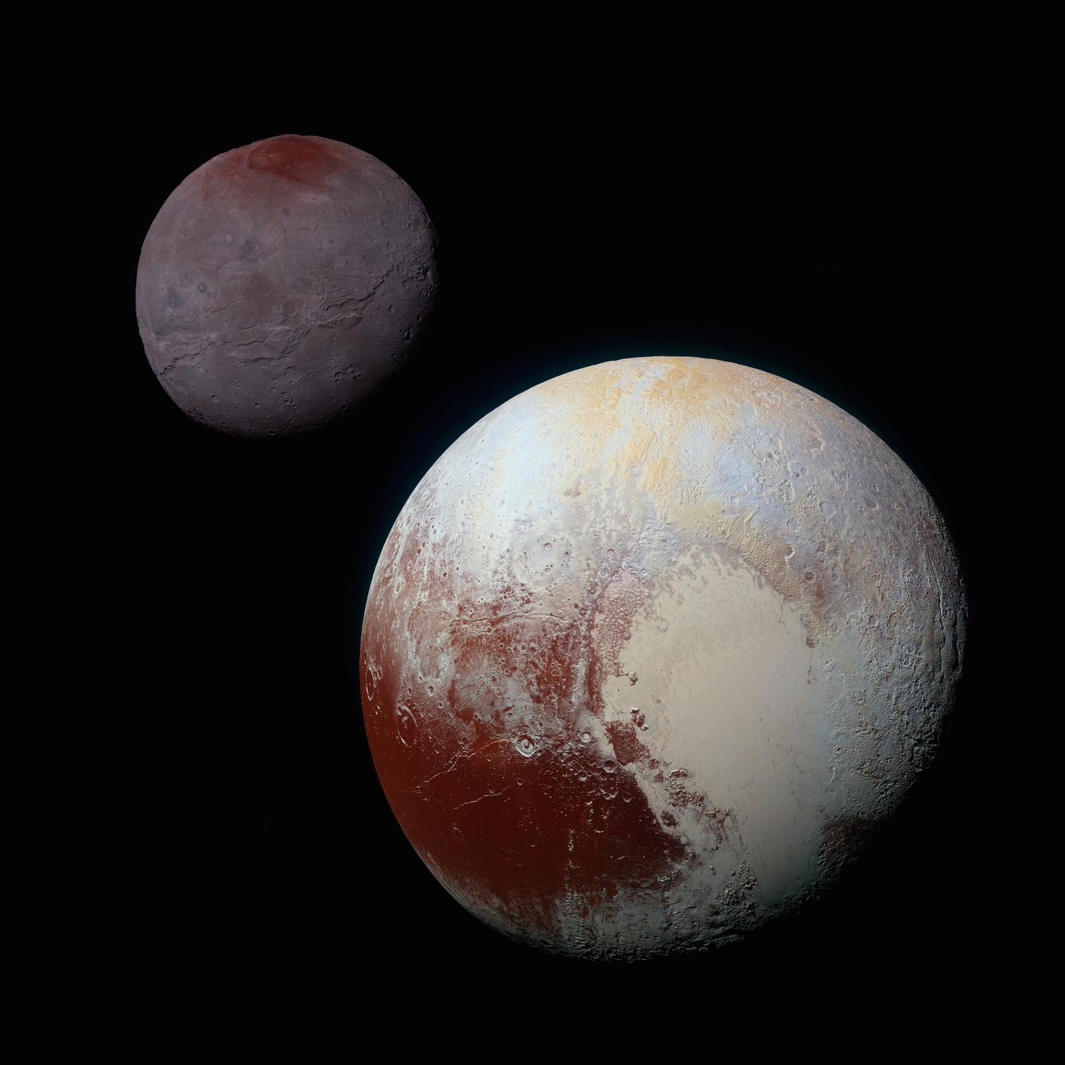 Charon Moon: Pluto's Big Moon Charon Reveals A Colorful And Violent History