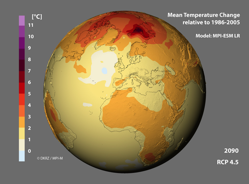 How do global climate models vary in the short-term?