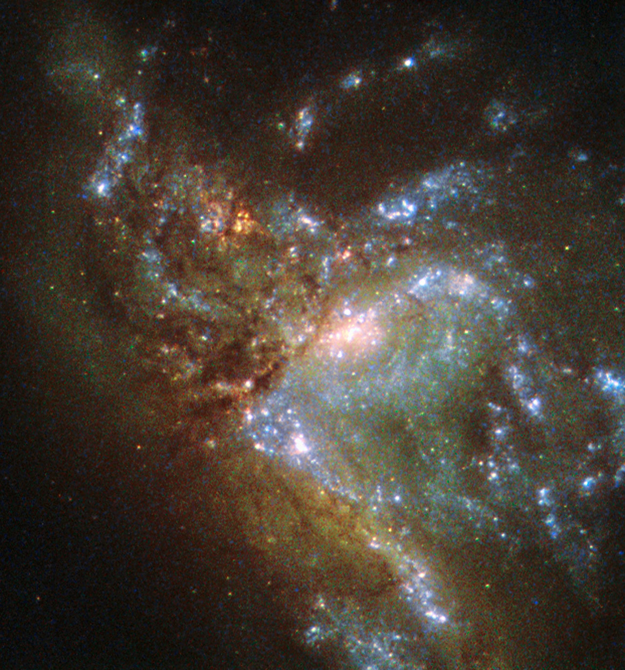 Image: Hubble views two galaxies merging