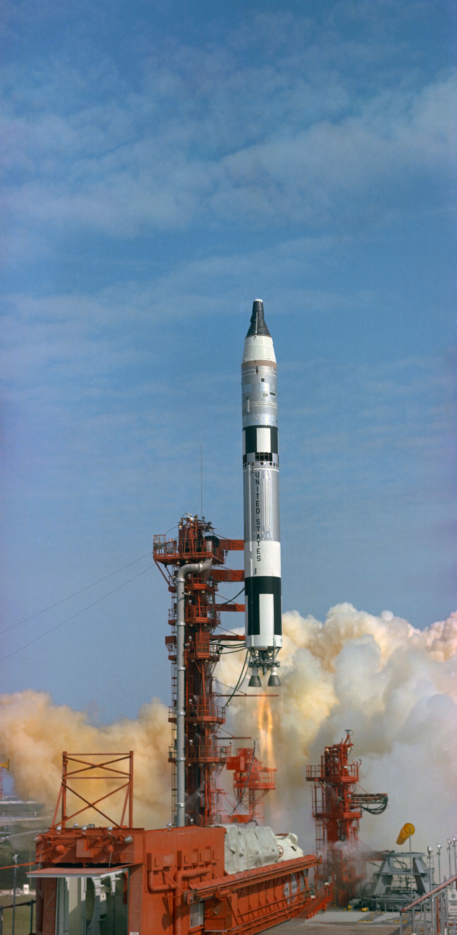 Image: Launch of first crewed Gemini flight