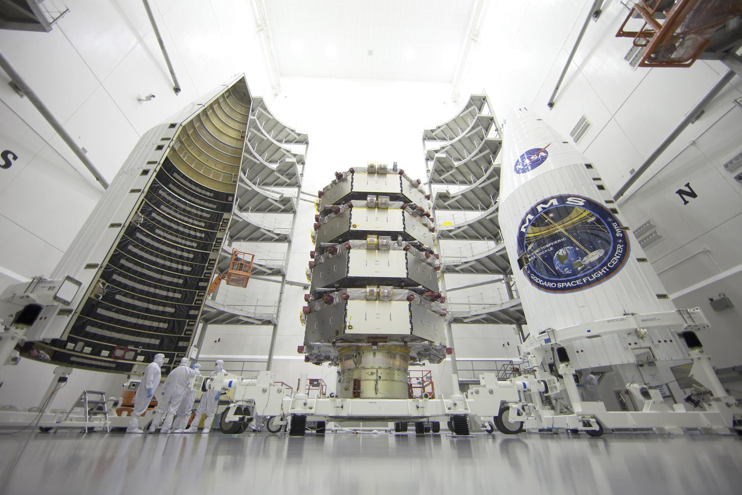 Magnetospheric multiscale spacecraft poised for launch