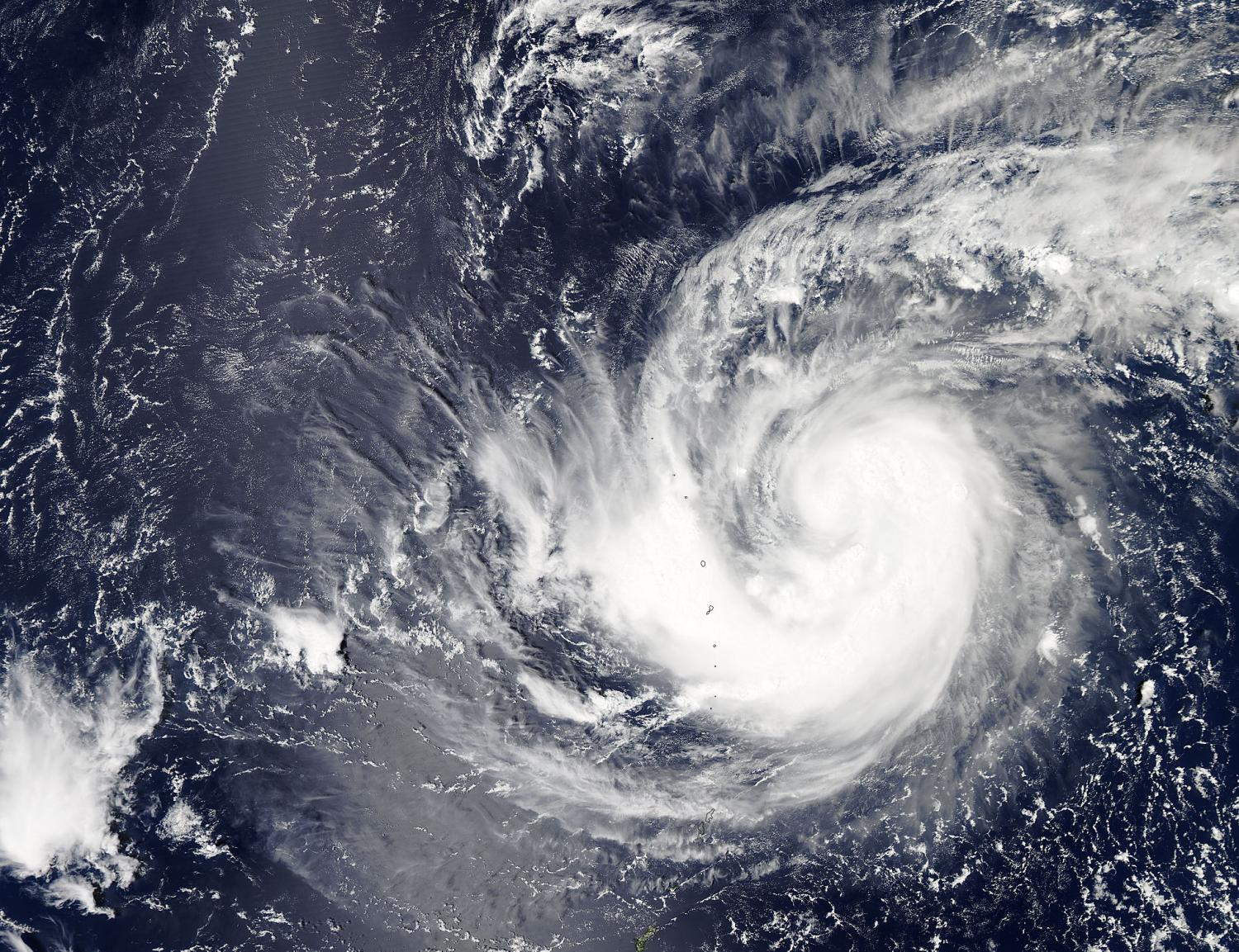 ... Tropical Storm Krovanh in the western Pacific Ocean. Credit: NASA