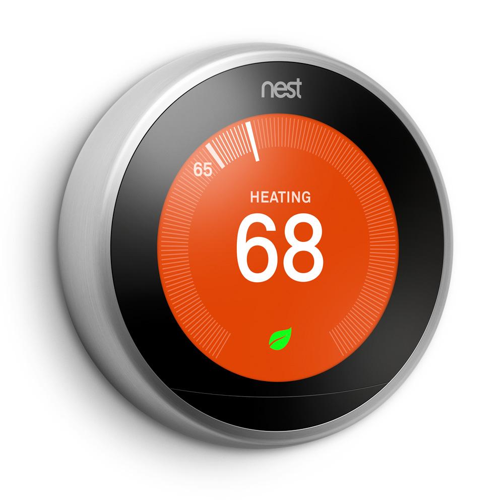 nest thermostat gets new look. Black Bedroom Furniture Sets. Home Design Ideas