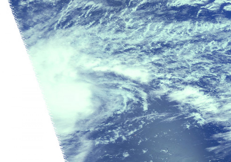 Tropical Storm Bavi moving through Northwestern Pacific Ocean